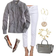 """gray and white"" by shopwithm on Polyvore"