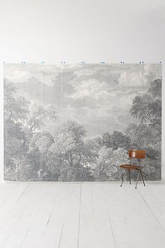 Anthropologie EU Etched Arcadia Mural Wallpaper