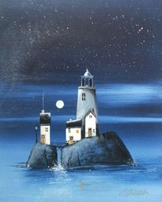 Gary Walton acrylic 'Lighthouse Dreams II'