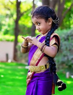 Cute little girl in traditional dress........
