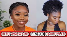 Cute Hairstyles For Awkward Length Natural Hair   AAHV 4c Natural Hair, Natural Hair Styles, Natural Women, Naturally Beautiful, Hair Pictures, Hair Videos, Cute Hairstyles, Hair Lengths, Awkward