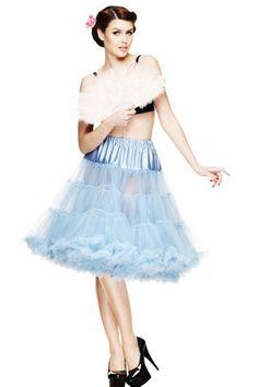 Hell Bunny Sky Blue Petticoat - Gwynnie's Emporium
