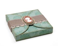 Creative Scraps by Peggy Lee: Close To My Heart Jeanette Lynton Blog! Beautiful vintage look wrap with cameo detail
