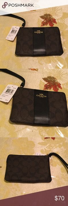 Coach wristlet 😍 Authentic. Brand new. New collection very beautiful with box coach Bags Wallets