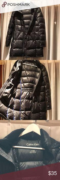 Calvin Klein lightweight down jacket Black down jacket size S Calvin Klein Jackets & Coats