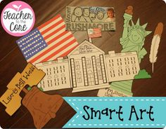 This is perfect art for teaching kids about American Symbols and practicing skills like writing, place value, fact and opinion, and phonics!