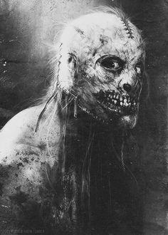 Concept art from American Horror Story byJerad S. Marantz. Black & white Edition