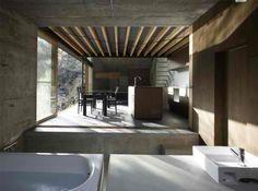 Japanese Loft Interior - Bathroom