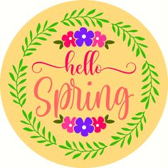 Hello Spring Door Hanger -Reusable Mylar Stencil, Easter Sign Stencils Sign Stencils, Spring Door, Christmas Door, Hello Spring, Door Hangers, Easter, Gardening, Doors, Ideas