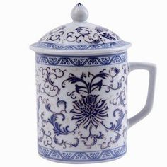 Asian Porcelain Mug for Tea or Coffee with Lid - Blue Floral Design - Great Gift! bamboo gifts,http://www.amazon.com/dp/B002V4550S/ref=cm_sw_r_pi_dp_umtEtb1MZY6VMJVF