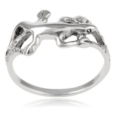 Journee Collection Sterling Gecko Ring