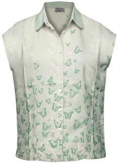 Relaxed-fit blouse with a cut from the softest rayon and button fastening on the front section - nice butterfly print!