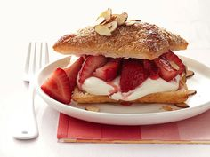 Strawberry Napoleons With Prosecco Cream recipe from Food Network Kitchen via Food Network