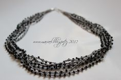 Marvael: Instructions for crocheted necklace