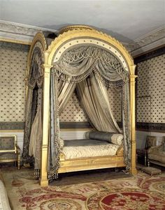 gold gilded french bed