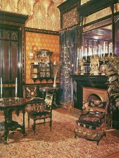 Late Victorian Interior Showing The Eclectic Mix Of Influences In This  Period