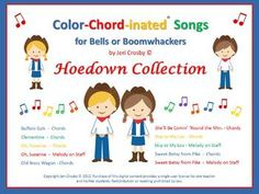 The HOEDOWN COLLECTION of Color-Chord-inated Songs for Bells or Boomwhackers. Yeeehaw!