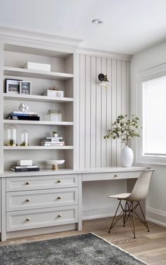 Home Office Space, Home Office Decor, Home Decor Bedroom, Office Ideas, Office Furniture, Furniture Design, Ikea Office, Office Nook, Desk Space