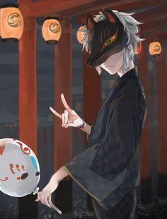 Manga Anime, Boys Anime, Cute Anime Guys, Hot Anime Boy, Manga Boy, Anime Art, Touken Ranbu, Yuumei Art, Fuchs Tattoo
