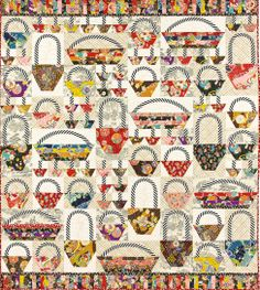 """Alex Anderson Quilts Home Laura Nownes' """"Going to Market"""""""