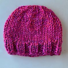 Pretty Azalea Knitted Hat (on size 13 straight needles)...however, I will do it on circular needles because I hate seams!!!!!!!!!!!
