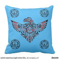 Shop native american eagle tattoo blue pillow design created by mangisa_art. Blue Pillows, Throw Pillows, Custom Art, Pillow Design, Nativity, Native American, Canvas Art, Eagle, Art Prints