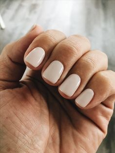 Love this ivory nail polish color and I would literally want to have my nails look like this all the time #Nails #Beauty #Style