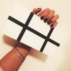 Hard case monochrome#clutch#black#best#topshop