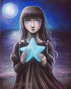 Star of the Sea by terminarosa on DeviantArt Reaching For The Stars, Sun And Stars, Under The Moon, Good Night Moon, Nighty Night, Moon Magic, Twinkle Twinkle Little Star, Moon Art, Art Journal Inspiration