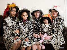 Pearly Princesses from Peckham, South London. c2000