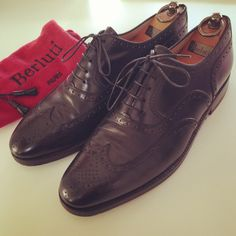 People say that it doesn't matter how perfect your clothes are, if your shoes are poor or not quite right, it's all in vain.  Not an issue with these beauties from Berluti.