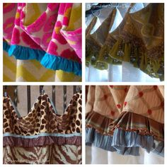 Sheer Cafe Curtain with Ruffled Cuff – Tutorial