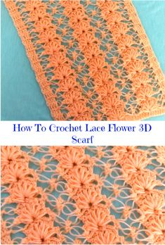 How To Crochet Lace Flower Scarf It is always interesting and funny to crochet scarfs for yourself or for your beloved friends. Crochet Lace Scarf, Crochet Scarves, Lace Knitting, Crochet Motif, Crochet Clothes, Free Crochet, Crocheted Lace, Crochet Stitches Patterns, Knitting Patterns