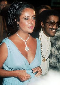 always loved 1970's Liz Taylor with the huge jewels, huge hair and tan.  *****************************************   with Sammy Davis Jr