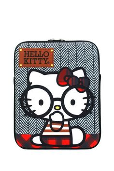 {Hello Kitty Nerd with Round Glasses iPad Case} HK nerd!