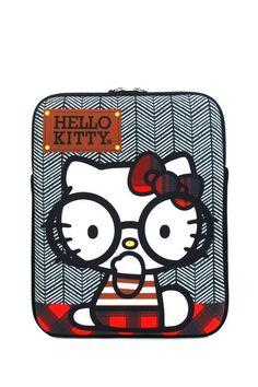 Hello Kitty Nerd with Round Glasses iPad Case