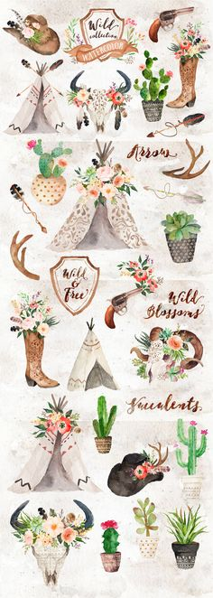 Watercolor Wild West Collection                                                                                                                                                                                 Mehr