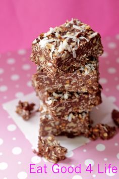 Eat Good 4 Life Gluten free No bake dark chocolate and coconut bars » Eat Good 4 Life