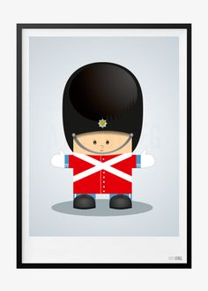 Børneplakat med lille soldat i rød – Perfekt plakat til drengeværelset. Plakaten fås i 4 størelser fra 39,-