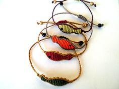 Macrame bracelets. Fishes bracelets. Bracelets for winter. Adjustable bracelets. by asmina on Etsy