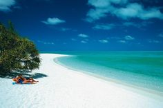 Gorgeous secluded beach on the Great Barrier Reef, Queensland, Australia