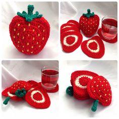 Ravelry: Strawberry Coaster Set pattern by Ling Ryan