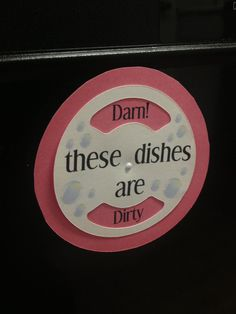 Dirty/Clean Dishes Dishwasher Magnet by SouthernPapercraft on Etsy, $2.99