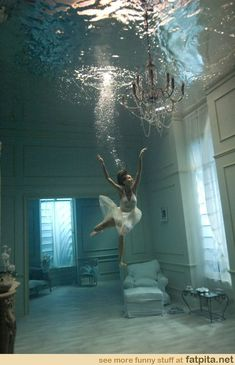 in an underwater room, i could be a ballerina!