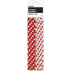 Paper Straws, Ruby Red Decorative Dots CLEARANCE, Scrapbook, Embellishment, Cardmaking, Layouts