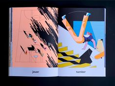 """""""I almost never practice sports,"""" says illustrator Anne-Margot Ramstein, who, despite having no desire to go to the gym or be part of a team is fascinated by the visuals of athletic activities. Her recent book of sports drawings, En Forme (or In Shape), investigates the body in motion with extreme p"""