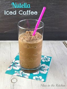 Ingredients    2 cups coffee ice cubes  1/2 cup milk  2 tablespoons Nutella  Instructions    Add all ingredients to a blender and blend until smooth. Pour into a glass and serve immediately.