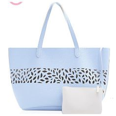 "☀️Pretty Blue Tote with Pouch Ulta Light Blue Pebble Shoulder Handbag/Tote & Clutch NWT GWP - LOOKS GORGEOUS; 1 light blue bag/tote + 1 attachable ivory clutch; for beach/pool/travel/shopping; logo ""Ulta"" on the attached tag""; size - large (DEPENDS on your needs); color: light blue and ivory; material looks like faux leather; Aprox. Size of tote: 20""(L) x 11""(H) x 6""(W);  2 straps - 19"" length of each; aprox size of a clutch - 7.25"" x 5.25""; NWT; no lining; no pockets; no closure; it was a…"
