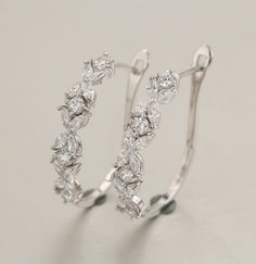 925 silver earrings, cz stone. item number: BT04043