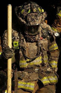 This is what it looks like when you get to do the joyful task of overhaul during a structure fire.